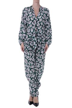 Silk Floral Printed Jump Suit