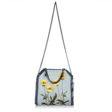 Embroidered Mini FALABELLA Shoulder Bag