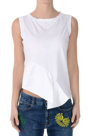 T-shirt in Cotone Senza Maniche