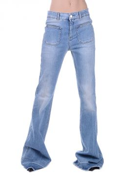 Jeans Boot Cut in Denim stretch 32 cm