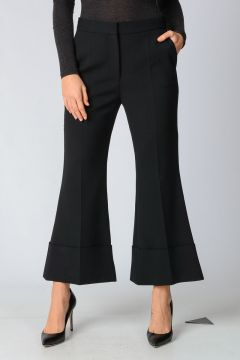 Wool Blend Boot cut pants