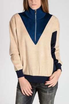 Terry Intarsia Sweater