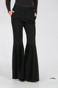 Pantalone In Lana con Pieghe