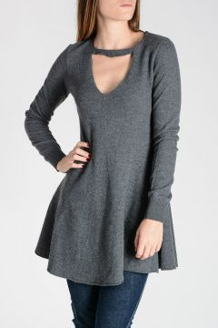 Virgin Wool Flared Pullover