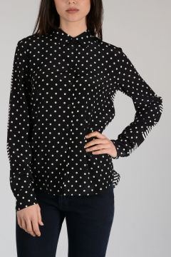Polka Dots Printed Silk Blouse