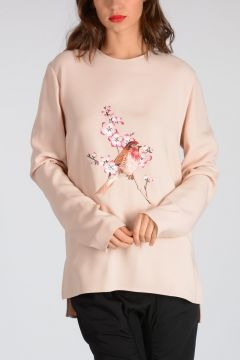 Embroidery Long Sleeves Top