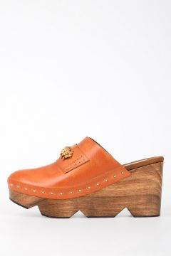 Faux Leather wedge Clog
