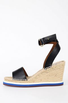 Faux Leather Cord Wedge Sandals