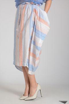 Mixed Cotton Striped Skirt