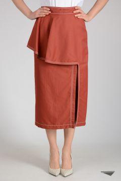 Cotton Linen Blend Skirt