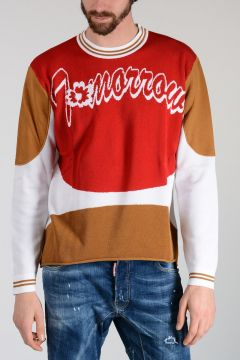 Embroidery Knitted Sweatshirt