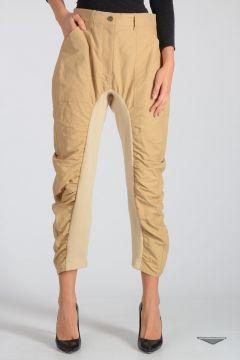Pantalone in Misto Cotone e Lino