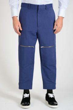 Pantalone con Zip alla Caviglia