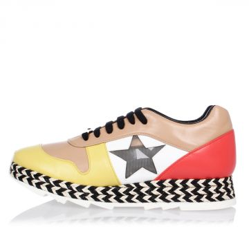 Multi color Faux Leather Sneakers