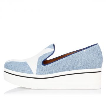 Sneakers Slip On in Denim