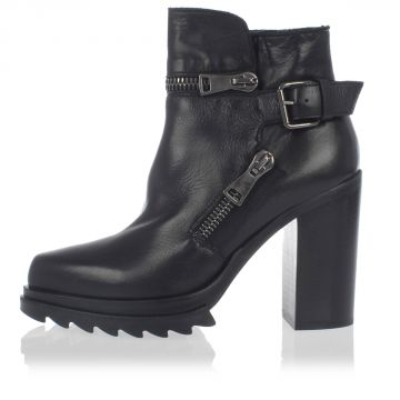 Zipped Leather Boots
