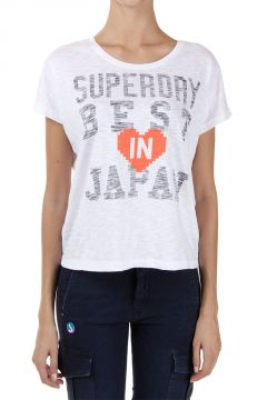 T-Shirt con Stampa BEST IN JAPAN