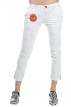 Cotton Mixed Trousers with Mermaid Print