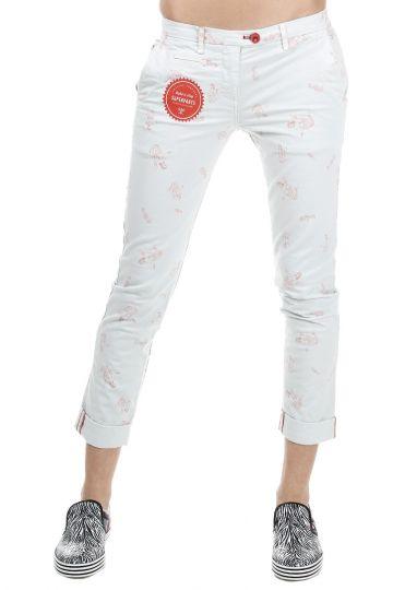 Pantaloni Misto Cotone con Stampa Sirene