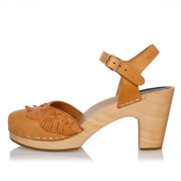 Sandalo FRINGY in Pelle 8 cm