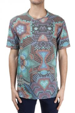 Abstract Print Cotton mixed T-Shirt