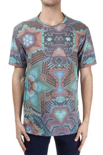 T-shirt misto cotone con Fantasia Astratta