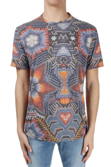 T-shirt misto cotone fantasia astratta