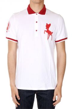 Bambi Printed Short Sleeved Polo Shirt