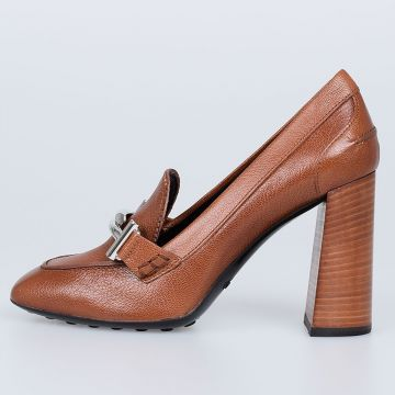 Leather shoes With Heel 9.5cm