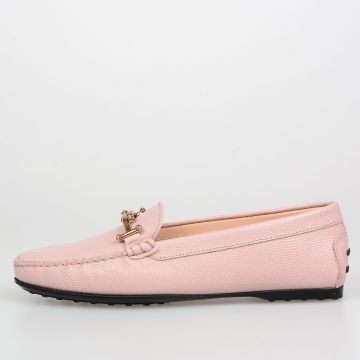 Leather Loafers with Crystals