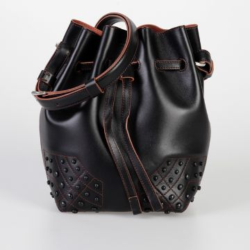 Leather AMR Small Bucket Bag