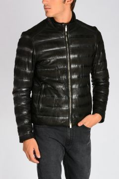 Padded Leather Jacket