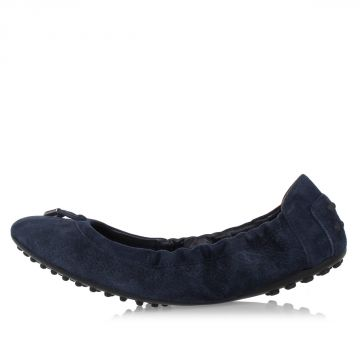 Leather suede OPTICAL FLOWER Ballet Flat