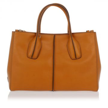 Borsa D-STYLING SHOPPING DUE ZIP PICCOLA in Pelle