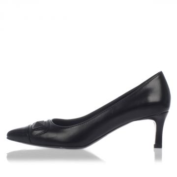 Brushed Leather Pump Heel 6 cm