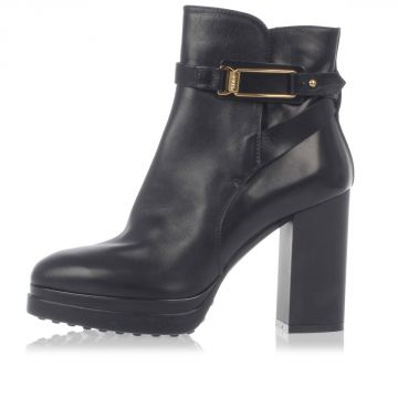 Leather Ankle Boots Heel 9 cm