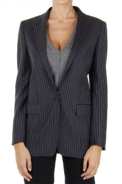 Virgin wool pinstriped jacket