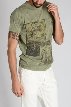 T-shirt CHEVALS in Jersey di Cotone