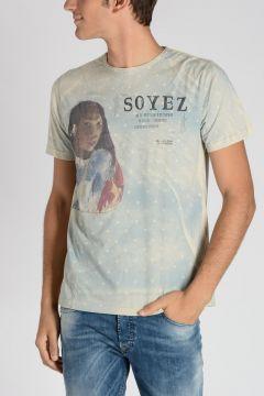 T-shirt SOYEZ in Jersey di Cotone