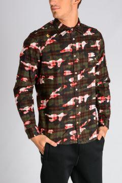 Wool Blend Camouflage Shirt