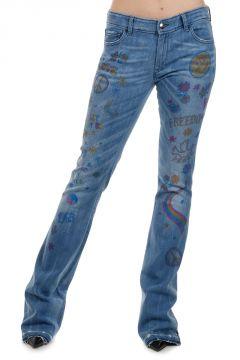 SYRENA Jeans in Denim Effetto Vintage 23 cm
