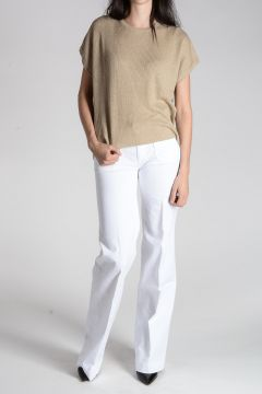 TALAVYN Ribbed Linen Top