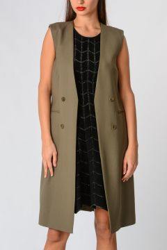Virgin Wool Long Gilet