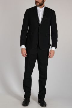 Wool Striped Embroidered Suit