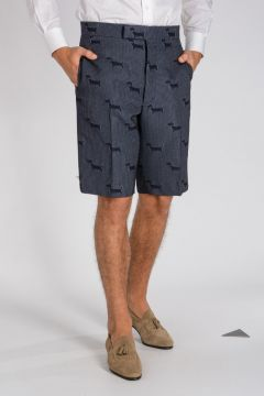Pantaloni Corti SHORT HECTOR WOOL STAMP in Jacquard