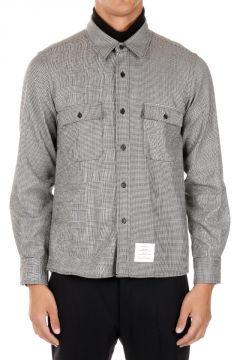Camicia in Lana con Tasche Frontali