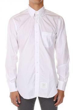 Camicia Button-Down in Popeline di Cotone