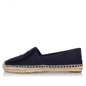 Espadrilles in Fabric and Leather