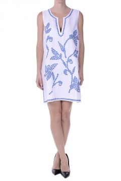 Linen Blend TALISAY Embroidered Dress