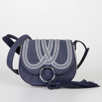 Borsa TASSEL MINI SADDLE in Pelle